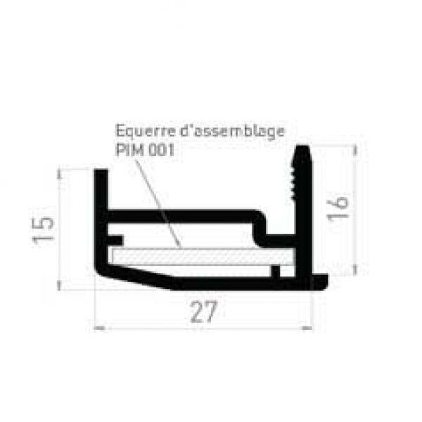 Visuel Moulure d'habillage de 27mm x15 mm en blanc -1 colis = 10x6ml