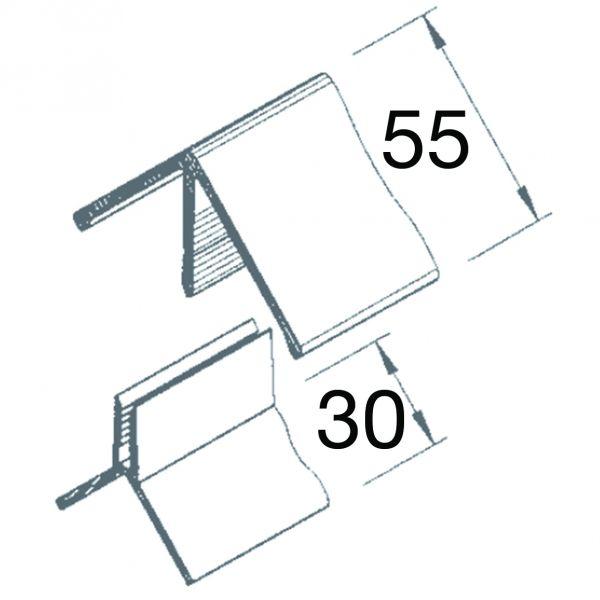 Visuel Angle sortant 2 parties Vinyplus® Gris 7035