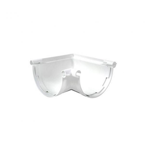 Visuel Angle Universel pour Gouttière Demi-ronde 25 Blanc