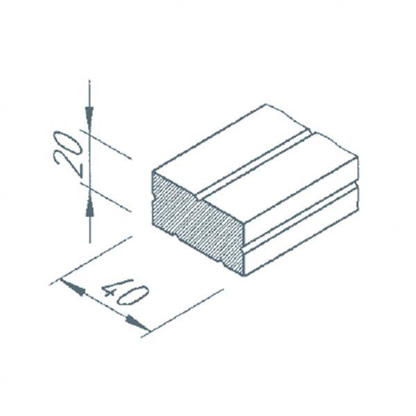 Visuel Profilé de calage 20/40 gris pour bardage VINYTHERM longueur 2.5ml
