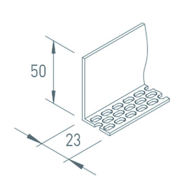 Visuel Profil de ventilation 25/50 pour bardage VINYTHERM lg 2.5ml