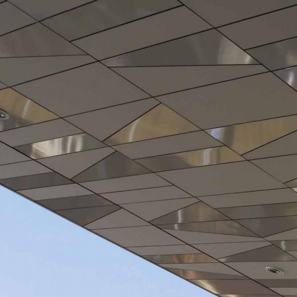 Visuel Panneau de façade HPL Fundermax® 4100 x 1300 x 8 mm Gris galet