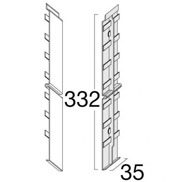 Visuel Éclisse FS302 332 x 35 mm Pierre d'argile