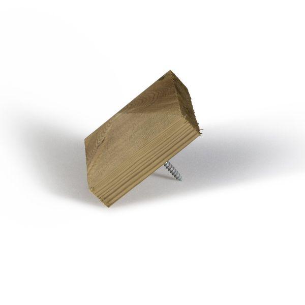 Visuel Finition pour poteau en bois Pluto Vert 145 x 145 cm