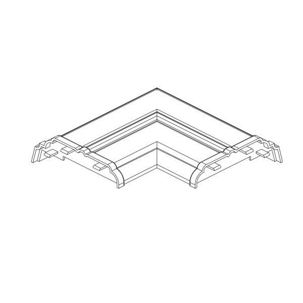 Visuel Angle de finition pour habillage SHA005- blanc
