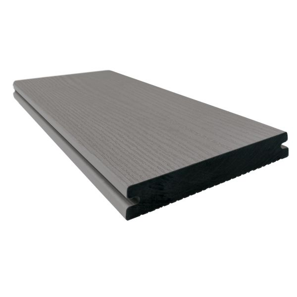 Visuel Lame de Terrasse Majestic Pleine Twinson® 4000 x 140 x 20 mm Gris pierre