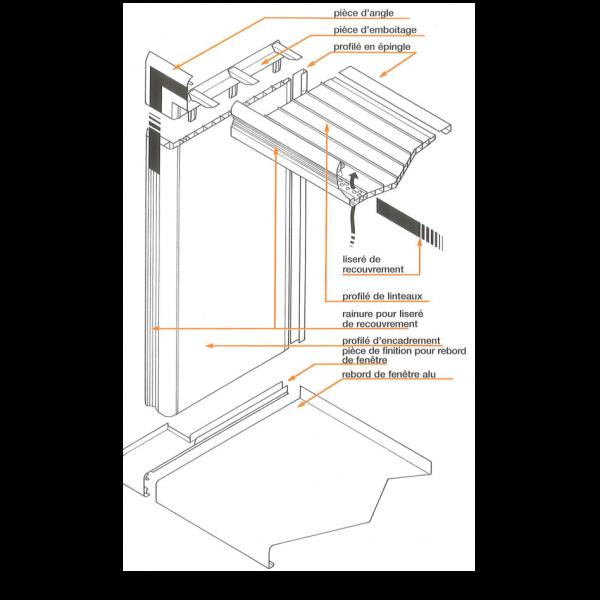 Visuel Clip pour angle Vinycom 270 mm Blanc