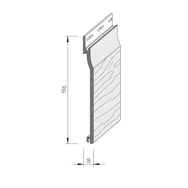 Visuel Bardage PVC cellulaire Vinytop 167 x 18 mm Gris clair 6 ml