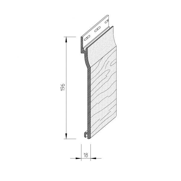 Visuel Bardage PVC cellulaire Vinytop 167 x 18 mm gris basalt 6 ml