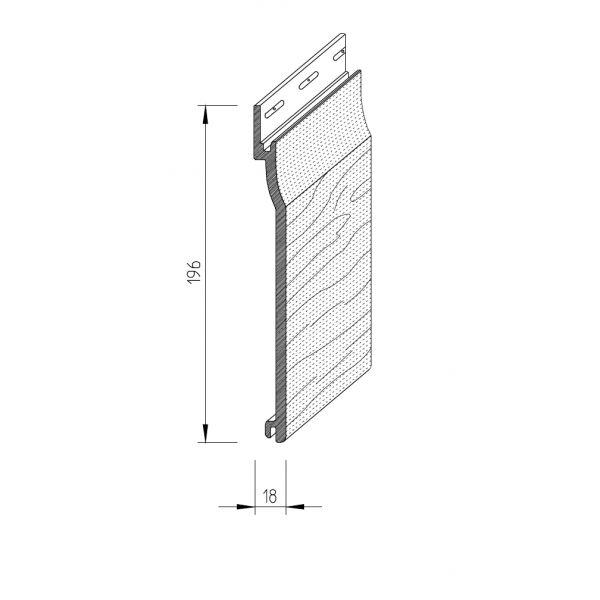 Visuel Bardage PVC cellulaire Vinytop 167 x 18 mm Blanc 6 ml