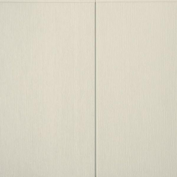Visuel Bardage PVC cellulaire Multipaneel finition bois 250 x 18 mm Crème 2.4 ml