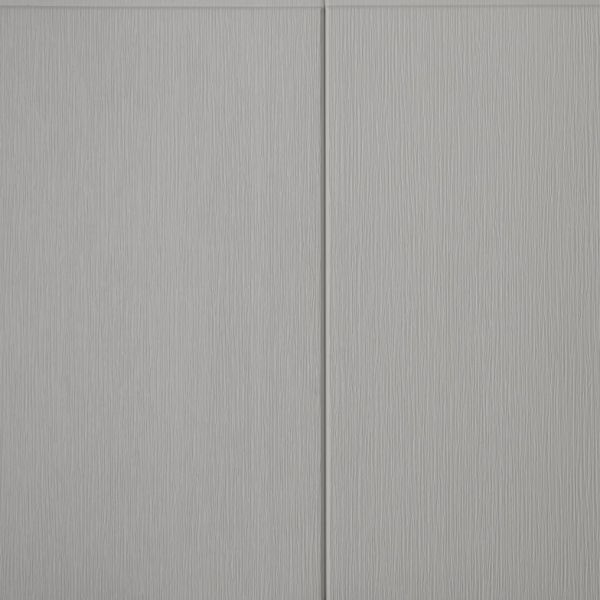 Visuel Bardage PVC cellulaire Multipaneel finition bois 250 x 18 mm Gris clair 2.4 ml