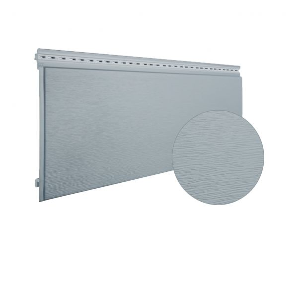 Visuel Bardage PVC cellulaire Multipaneel finition bois 250 x 18 mm gris 7001 2.4 ml