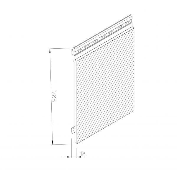Visuel Bardage PVC cellulaire Multipaneel finition bois 250 x 18 mm Blanc 2.4 ml