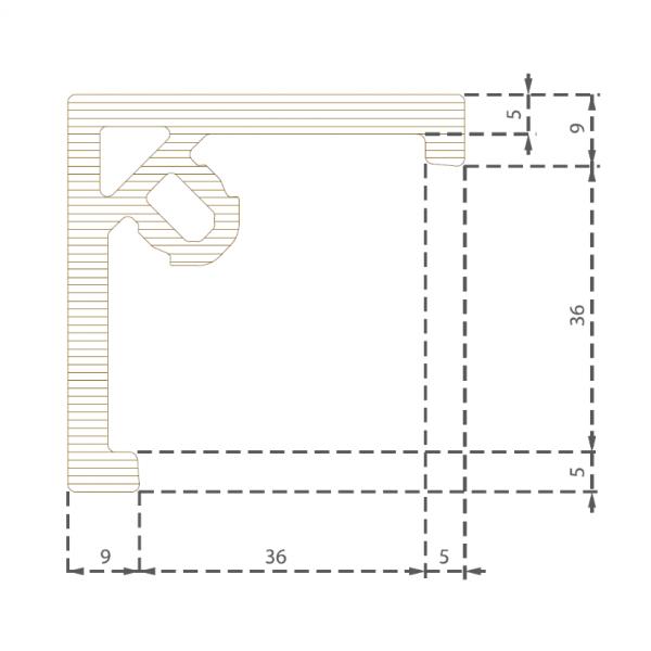 Visuel Cornière à clipser Gris ardoise 50 x 50 mm