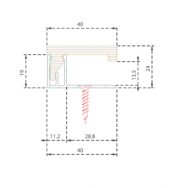 Visuel Profilé de finition 40x20 mm brun écorce pour 9562