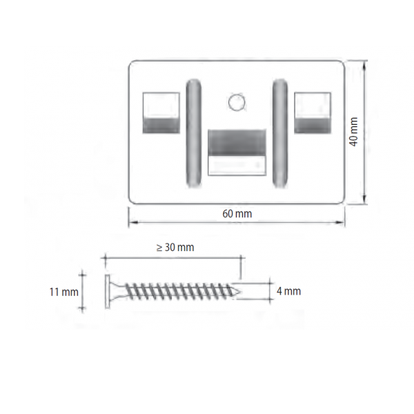 Visuel Kit de 250 clips + 260 vis inox pour fixation Cedral Click