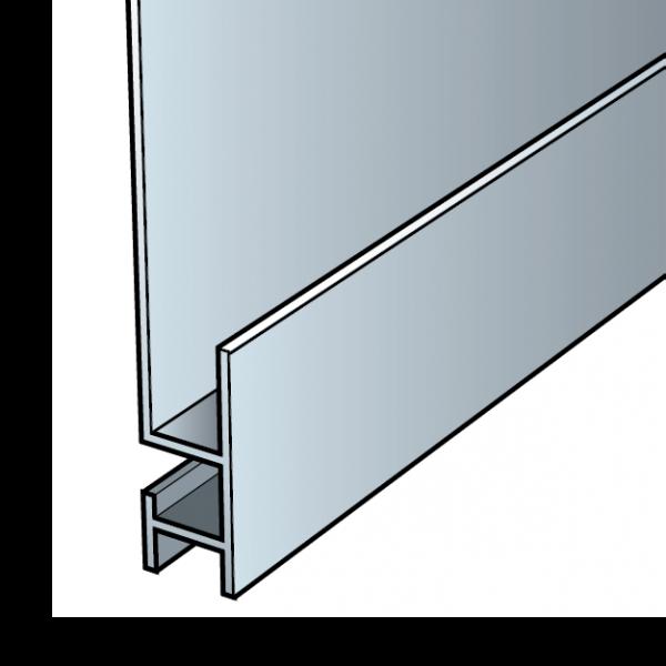 Visuel Profil de départ Cedral Click en Aluminium