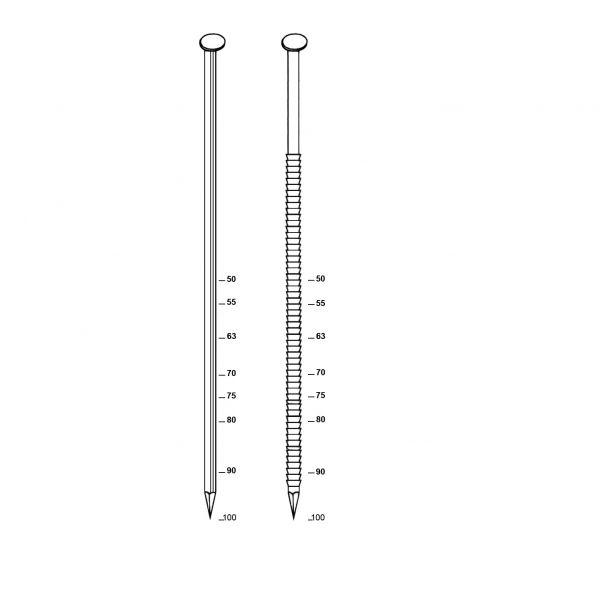 Visuel 1 Pack de 2200 Pointes en bandes 34° 31x90 lisse + 2 cartouches gaz 80ml