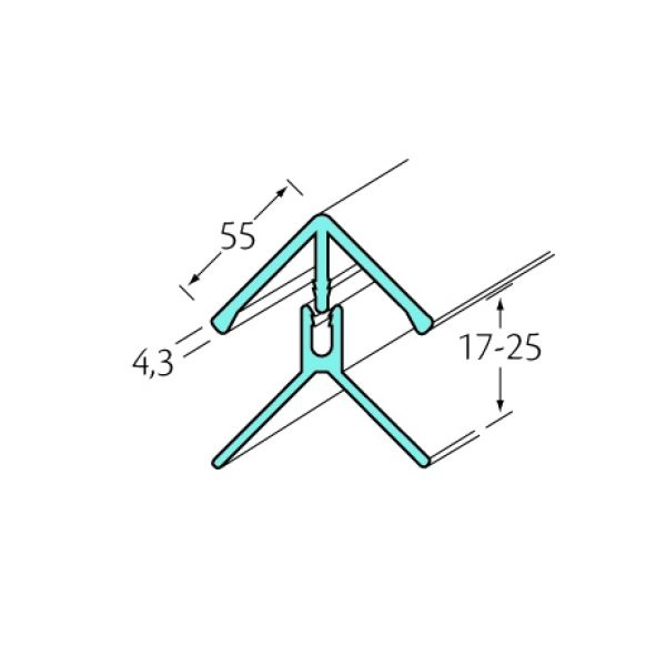Visuel Profil d'angle int/ext 2 parties Bardexel® Lisse Blanc