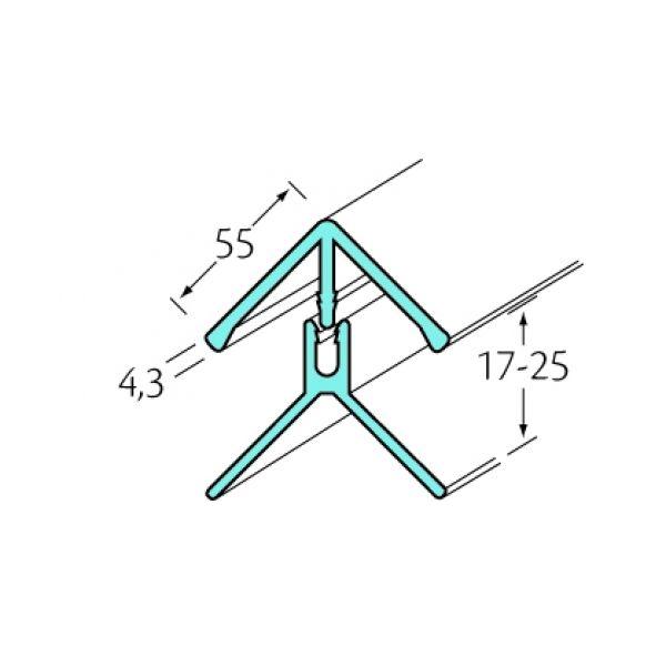 Visuel Profil d'angle int/ext 2 parties Bardexel® Lisse Chêne doré