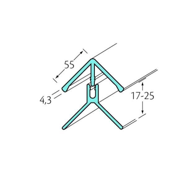 Visuel Profil d'angle int/ext 2 parties Bardexel® Lisse Crème