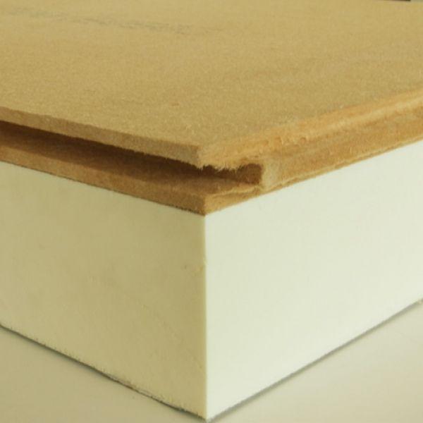 Visuel Plaque polyuréthane + fibre de bois 611 x 2511 x 155 mm - 1 pièce = 1.53 m²