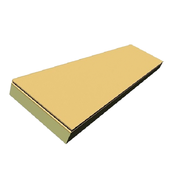Visuel Plaque polyuréthane + fibre de bois 611 x 2511 x 175 mm - 1 pièce = 1.53 m²