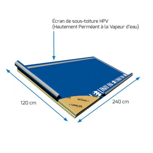 Visuel Panneau rigide avec écran de sous toiture HPV 2400 x 1200 x 160 mm - 1 pièce = 2.88 m²