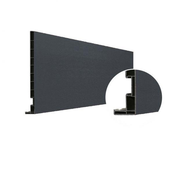 Visuel Planche de rive Vinyplus DRP finition bois 295 x 16 mm Gris basalt - 2 x 6 ml