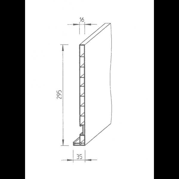 Visuel Planche de rive Vinyplus DRP finition bois 295 x 16 mm Gris 7001 - 2 x 6 ml