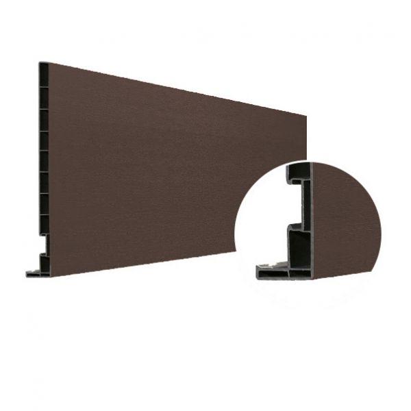 Visuel Planche de rive Vinyplus DRP finition bois 295 x 16 mm Anteak grey - 2 x 6 ml