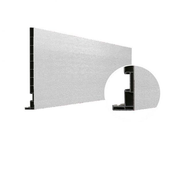 Visuel Planche de rive Vinyplus DRP finition bois 295 x 16 mm Blanc 9010 - 2 x 6 ml