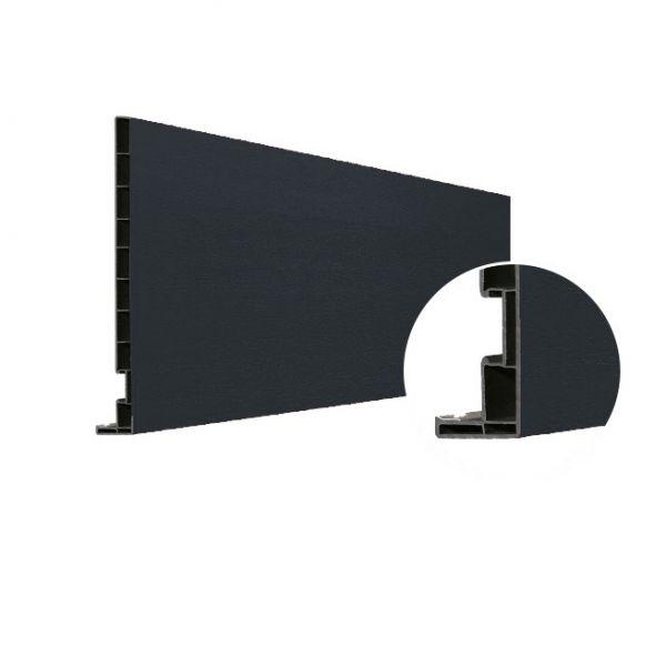 Visuel Planche de rive Vinyplus DRP finition bois 295 x 16 mm Gris anthracite 7016 - 2 x 6 ml