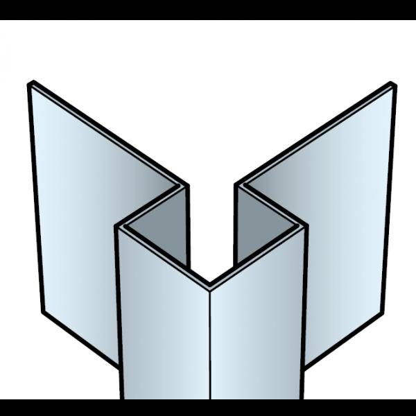 Visuel Profil coin extérieur Cedral Click en Aluminium Bleu océan