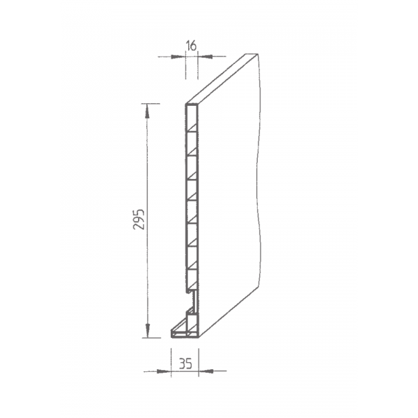 Visuel Planche de rive Vinyplus DRP finition bois 295 x 16 mm Gris quartz - 2 x 6 ml