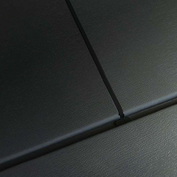 Visuel  Bardage PVC cellulaire lisse à jonction invisible 200 x 13.5 mm plaxé Alux Anthracite