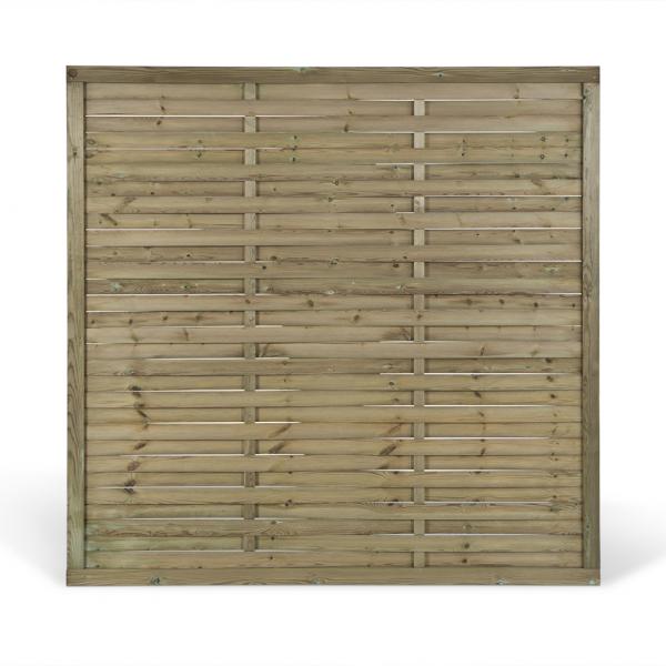 Visuel Palissade Classic Pin Rouge du Nord Traité Vert 148,5 x 176 cm
