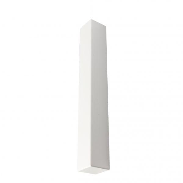 Visuel Angle extérieur blanc 300 x 40 mm pour planche de rive en L 9 mm