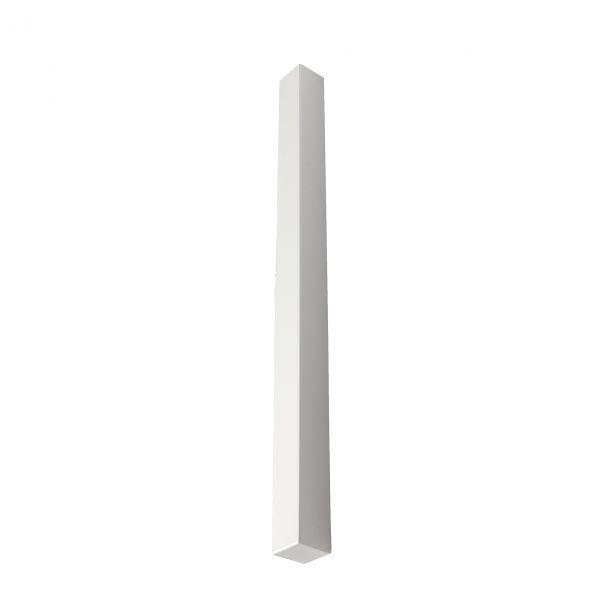 Visuel Angle extérieur blanc 600 x 40 mm pour planche de rive en L 9 mm