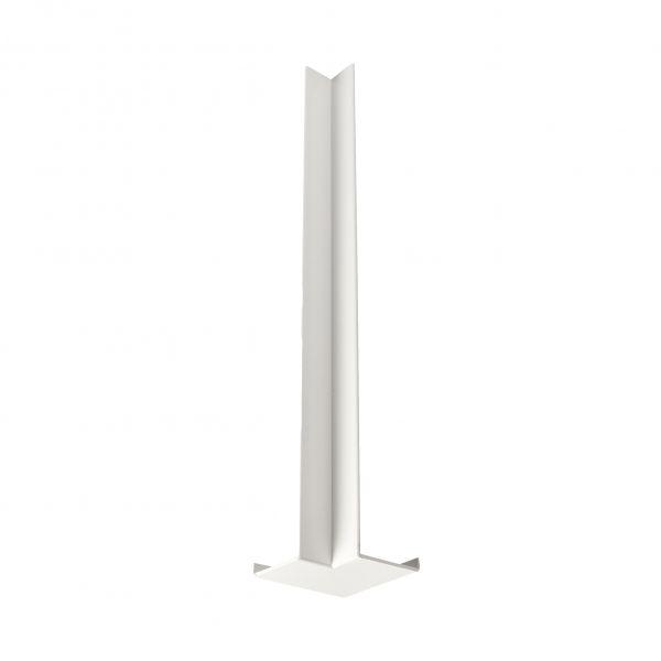 Visuel Angle intérieur blanc 300 x 40 mm pour planche de rive en L 9 mm