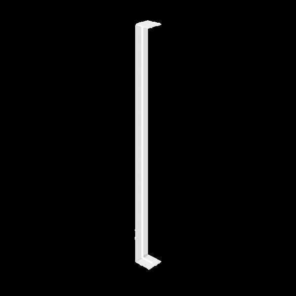 Visuel Jonction blanche 600 x 40 mm pour planche de rive en L 9 mm