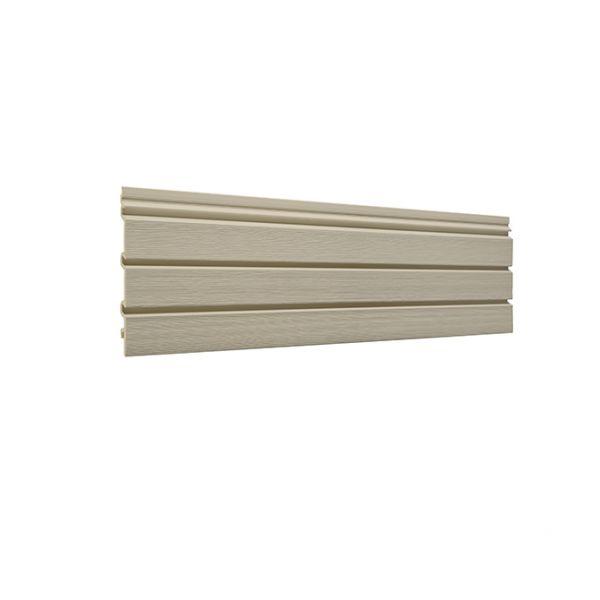 Visuel Bardage PVC cellulaire Élégance à claire voie 250 x 22.5 mm Beige 5 ml