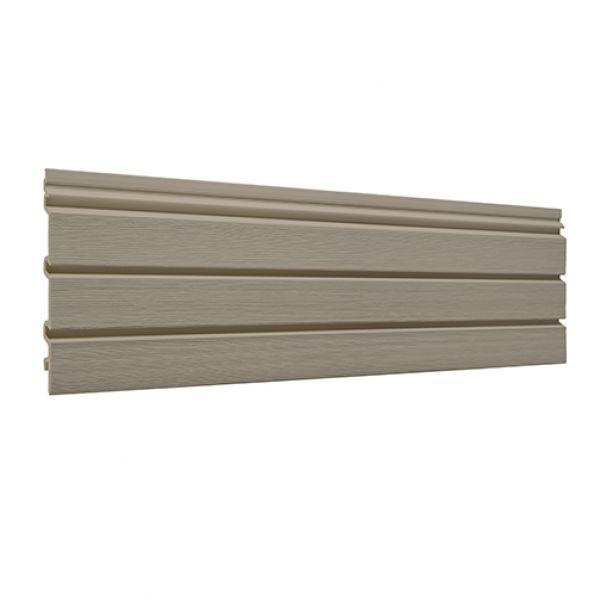 Visuel Bardage PVC cellulaire Élégance à claire voie 250 x 22.5 mm Camel