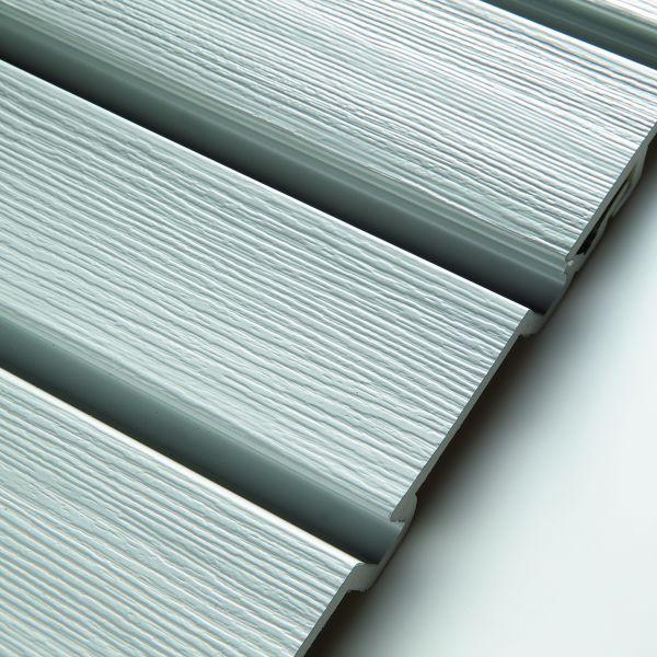 Visuel Bardage PVC cellulaire Élégance à claire voie 250 x 22.5 mm Gris