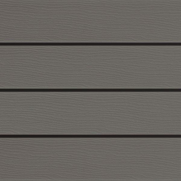 Visuel Bardage PVC cellulaire Élégance à claire voie 250 x 22.5 mm Gris quartz