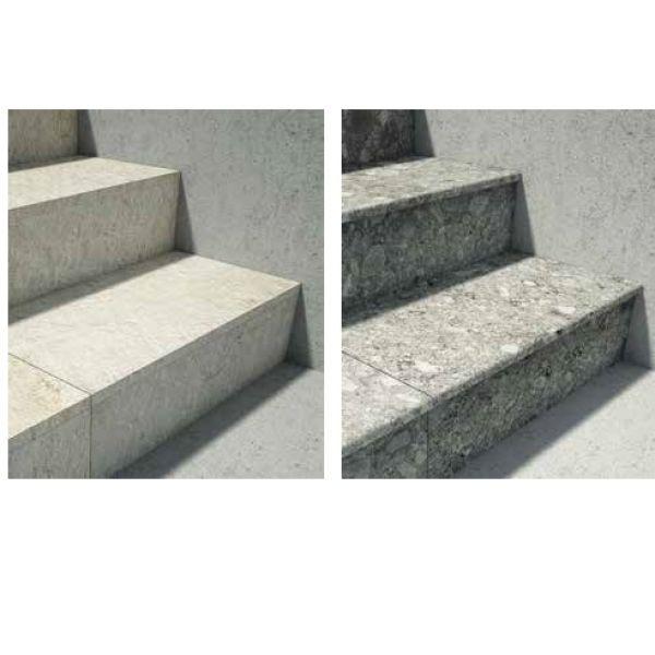 Visuel Dalle céramique Unico Noon 33 x 60 cm Charcoal - double usinage : arrondi et angle droit