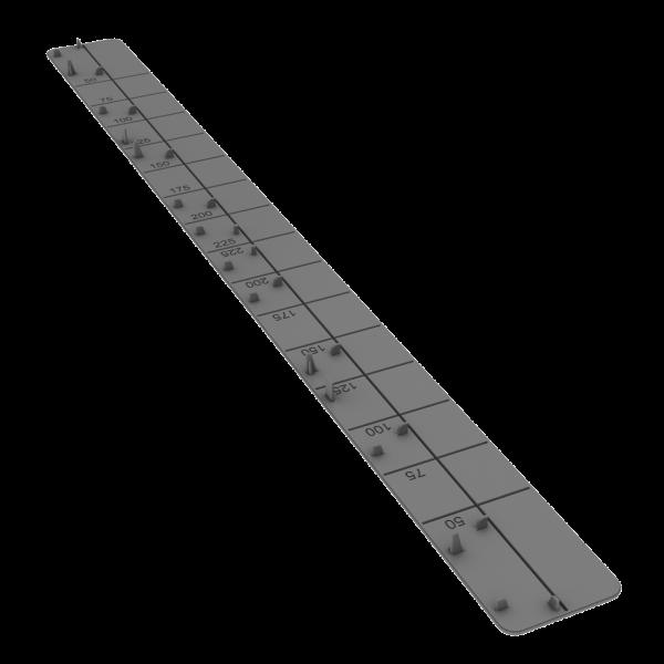 Visuel Embout de tablette universel Stone 450 mm - 1 colis = 20 pièces