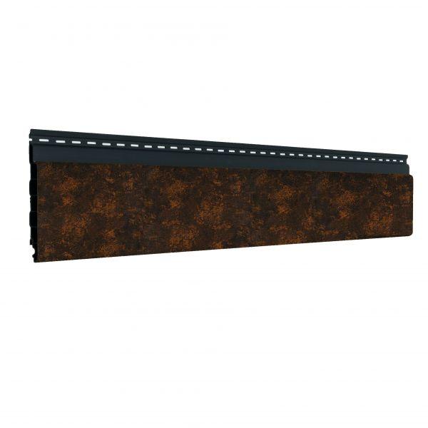 Visuel Bardage alvéolaire faux claire-voie Vinyplus Shadow® Acier corten - 150 x 18 mm