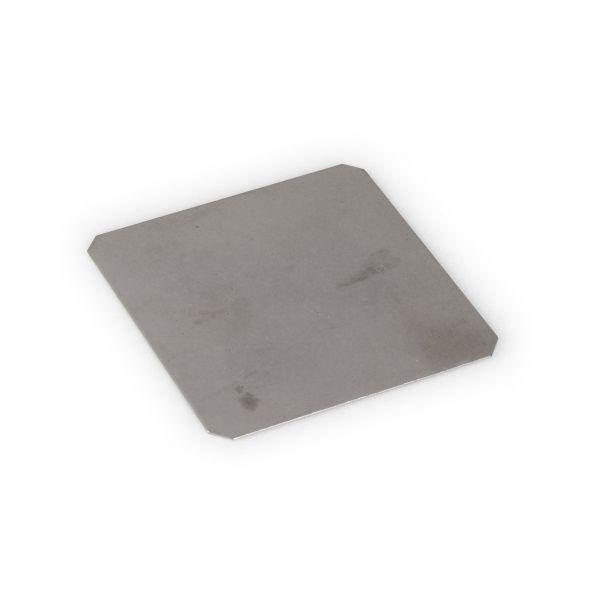 Visuel Accessoire Finition plate en inox pour poteau Inox 9 x 9 cm